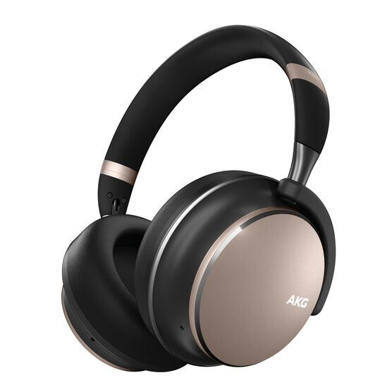 AKG Y600NC WIRELESS - Beige - Wireless over-ear NC headphones - Hero