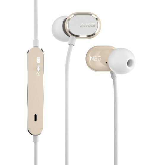 AKG N25 - Beige - Hi-Res in-ear headphones - Hero
