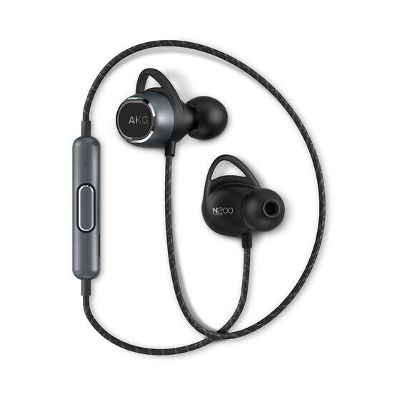 AKG N200WIRELESS - Black - Reference wireless in-ear headphones - Hero