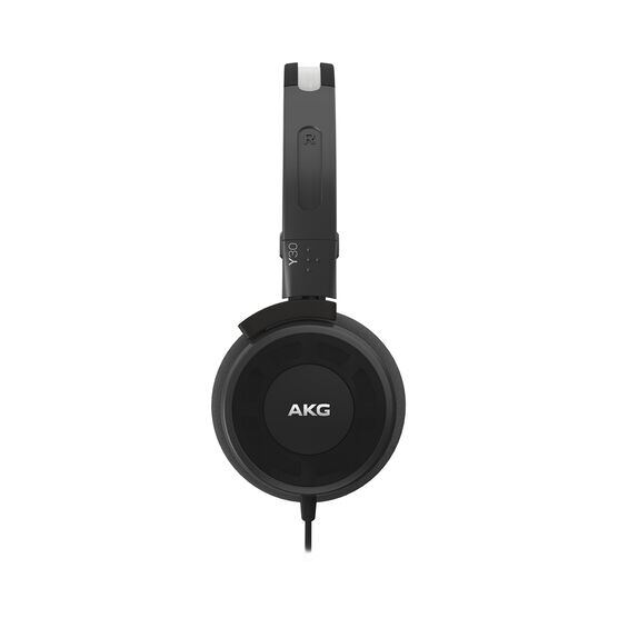 Y 30 - Black - Stylish, uncomplicated, foldable headphones with 1 button universal remote/mic - Detailshot 1