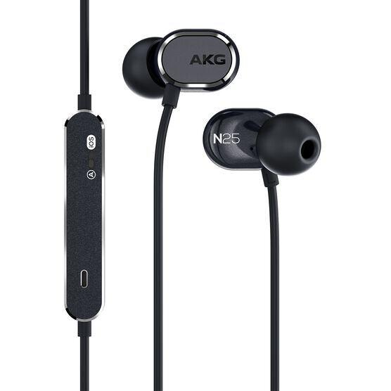 AKG N25 - Black - Hi-Res in-ear headphones - Hero