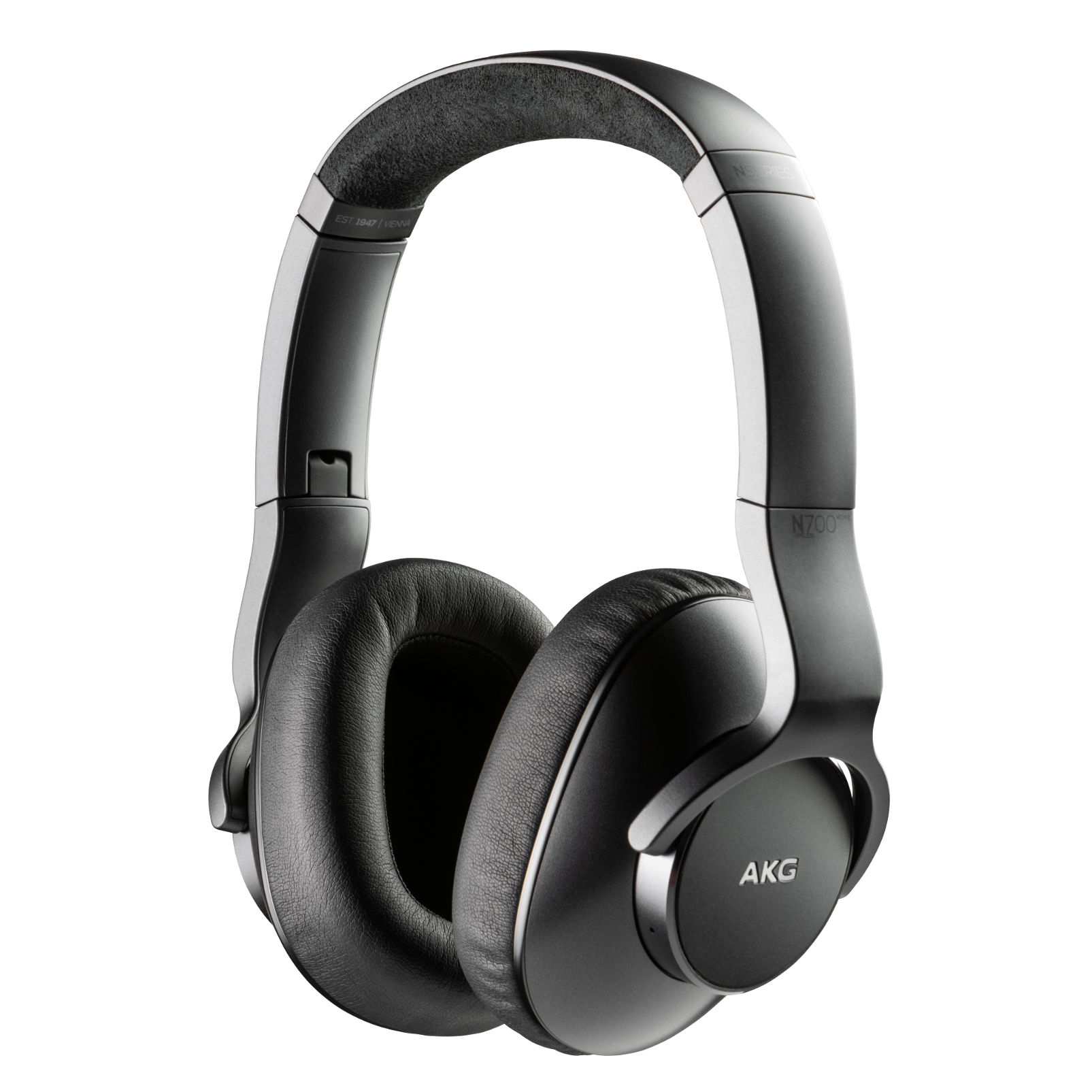 AKG N700NCM2 WIRELESS - Black - Wireless, Adaptive Noise Cancelling Headphones - Hero