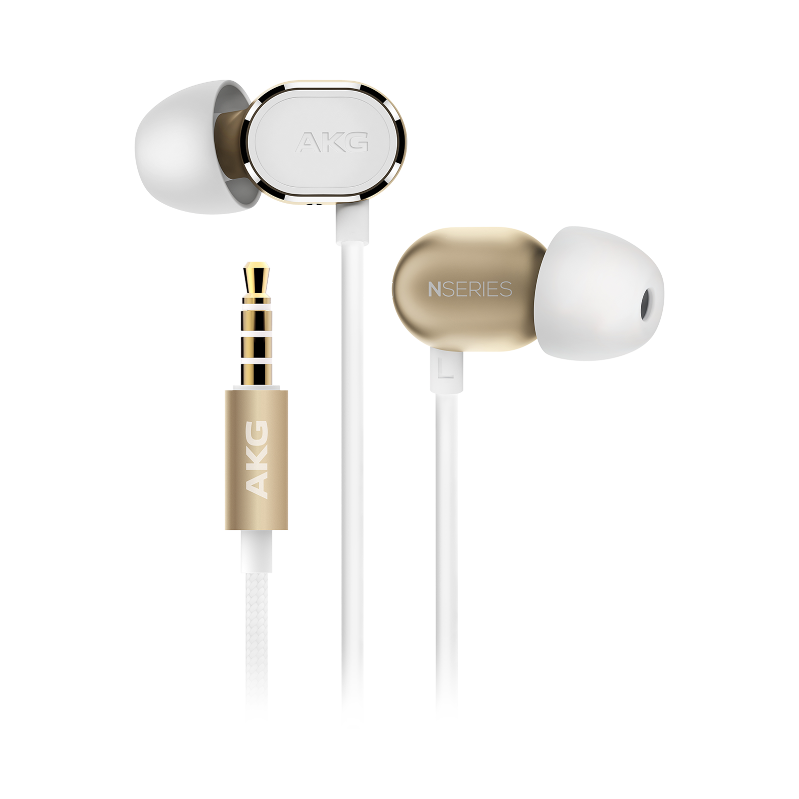 N20 - Gold - Reference class in-ear headphones in aluminum enclousure - Hero