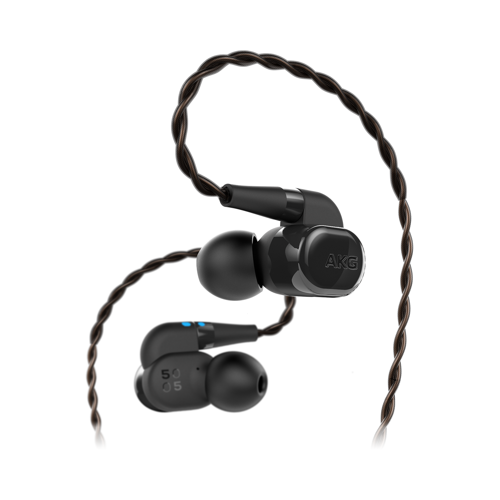 AKG N5005 - Black - Reference Class 5-driver configuration in-ear headphones with customizable sound - Hero